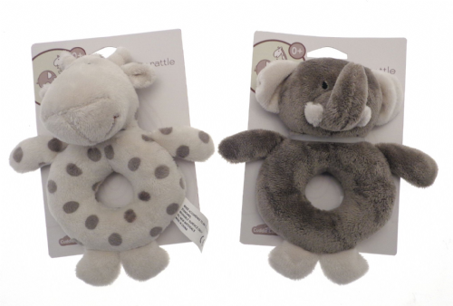 Elli & Raff Plush Rattle (Gray)